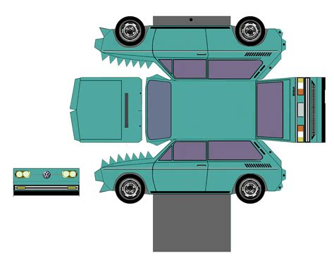 lada di carta sp papel modelismo papercraft volkswagen brasilia