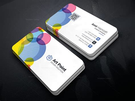 Loop Card Templates by Colorful Loop Professional Corporate Business Card
