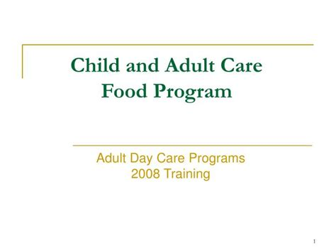 cacfp forms child and adult care food program cacfp ppt child and adult care food program powerpoint