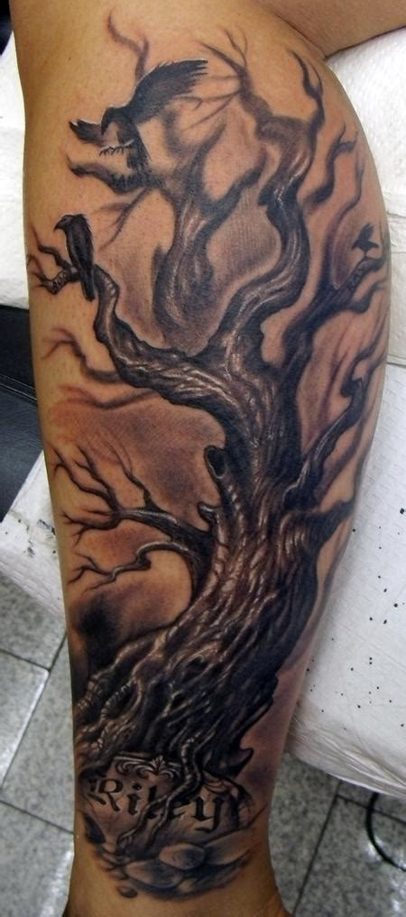 calf tattoo family tree 23 amazing tree calf tattoos