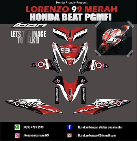 Striping Honda Beat Imsonia 1 99 gambar motor gp merah terupdate gubuk modifikasi