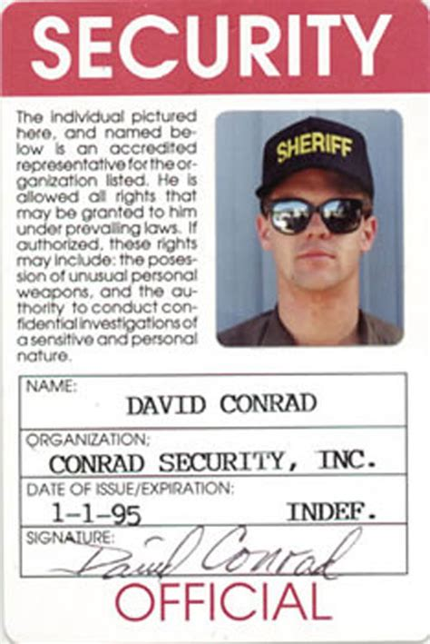 security id card template security id card