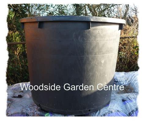 Big Black Plant Pots Large Plastic Pot 500ltr Black Woodside Garden