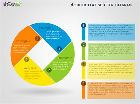 4 Sided Shutter Diagram for PowerPoint