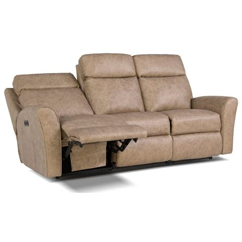 automatic reclining sofa smith brothers 418 motorized reclining sofa with flared