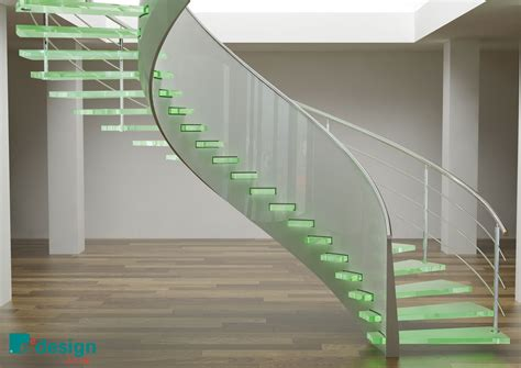 Glass Stairs Design Cool Spiral Glass Staircase Ifresh Design