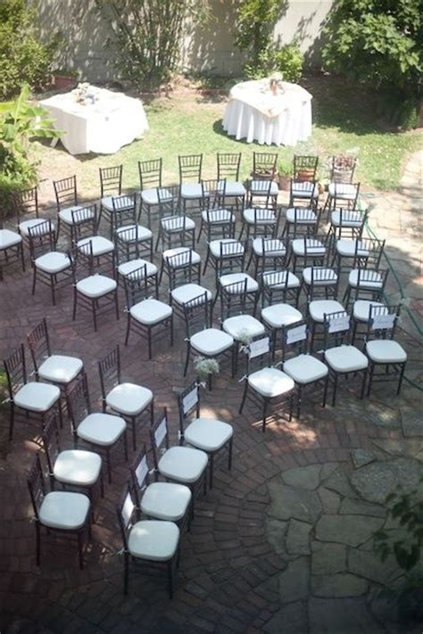 Wedding Ceremony Setup by Ceremony Chair Set Up Saying Quot I Do Quot