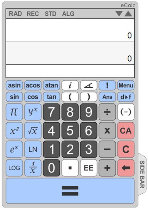calculator scientific online ज ज व ष ecalc an online scientific calculator for your