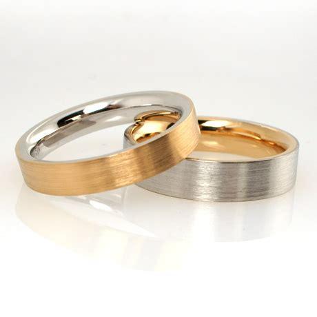 Eheringe Zweifarbig by Trauring In Gold Platin Individuell Hergestellt