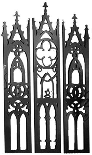 Gothic Cathedral Triptych Metal Wall Sculpture in 2020