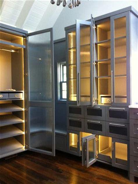 Custom Glass Closet Doors by Custom Closet Fluted Glass Doors Custom Cabinets