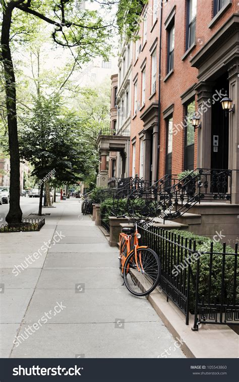 houses in brooklyn heights new york usa stock photo row of old houses at brooklyn heights new york city usa