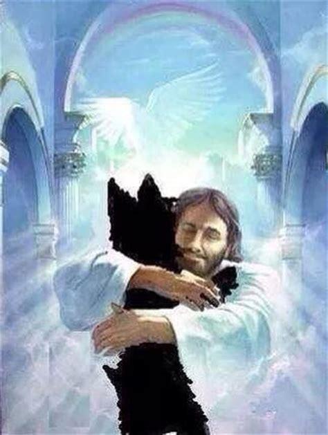 jesus in dogs jesus welcoming a in heaven words of sympathy heavens