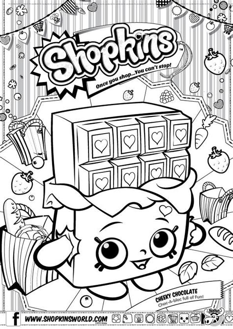 print out coloring pages of shopkins do you love cheeky chocolate print out this drawing and