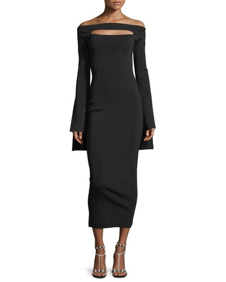 Promo Solace Tile Dress solace the shoulder peephole sleeve knit fitted dress