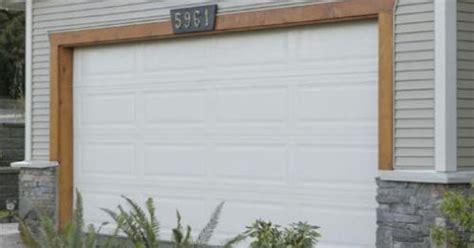 Stain Wood Trim Around Garage Door House Exterior Ideas Garage Door Wood Trim