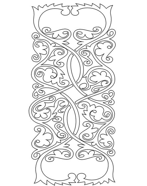 medieval coloring page medieval pattern 4 coloring
