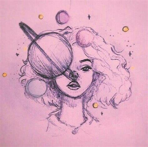 drawn moon indie pencil and in color drawn moon indie