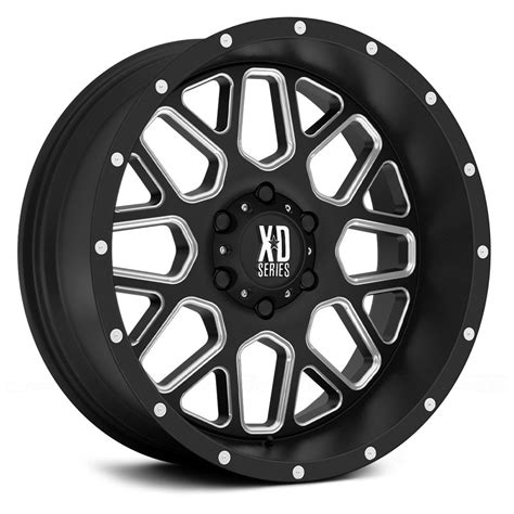 xd series wheels xd series 174 xd820 wheels satin black with milled accents rims