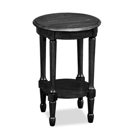 Cheap Black End Tables by 1 Leick Fluted End Table Slate Black Cheap