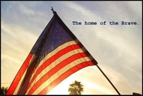 the home of the brave america the beautiful
