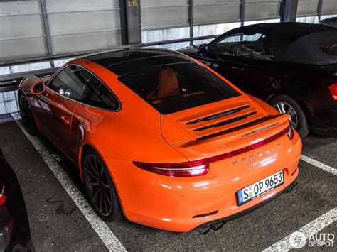 orange porsche orange porsche 991 c4s looks like candy