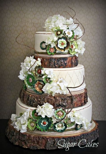 18 quot rustic tree slice wedding cake base or cupcake