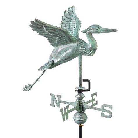 directions blue heron garden weathervane blue verde