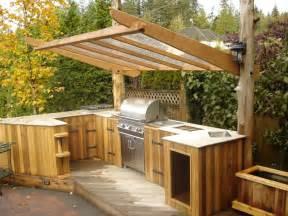 Backyard Tiki Hut Outdoor Kitchen Ideas Patio Traditional With Bbq Cedar