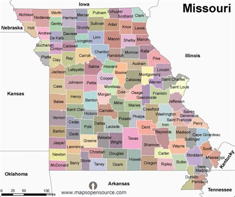 missouri map with county lines missouri county map images