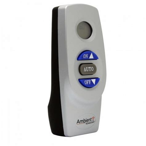 ambient technologies thermostat on remote