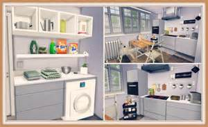 Meeting In My Bedroom sims 4 white kitchen with laundry dinha