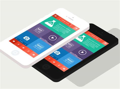 flat mobile use of flat design ui in mobile applications