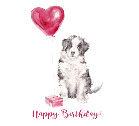 happy birthday balloon pup  pets ecards greeting cards