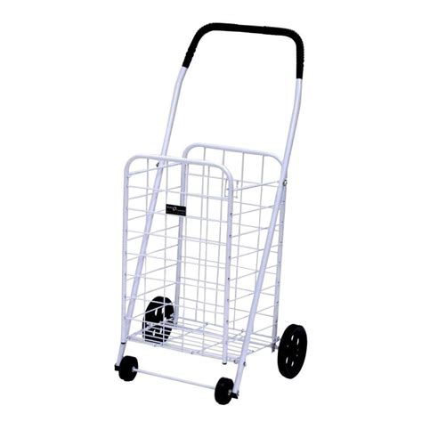 easy wheels mini a shopping cart in white 033wh the home
