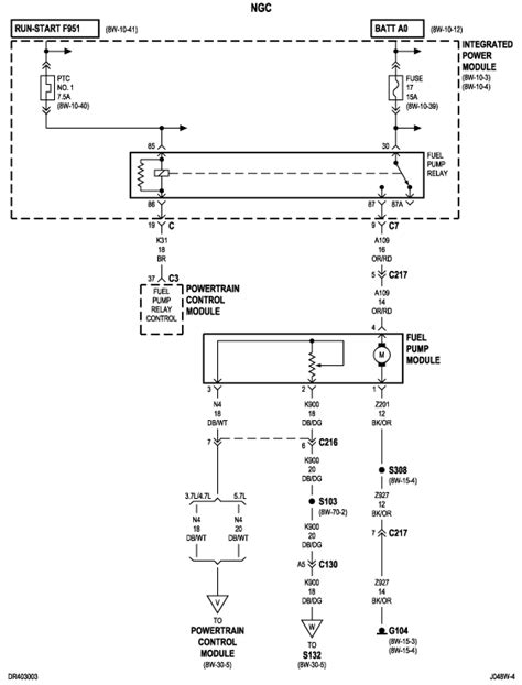 need wiring diagram for fuel system on a 2004 dodge ram hemi 4x4 need to if the fuel