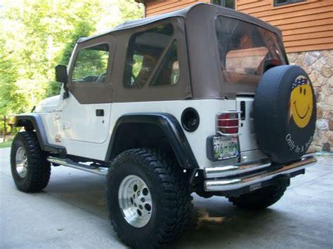 jeep soft top white purchase used 1997 jeep wrangler tj stone white ext tan