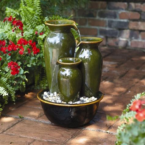 Outdoor Vase Water Fountains by Garden Oasis Cascade Vase Outdoor Living Outdoor Decor Fountains Pumps