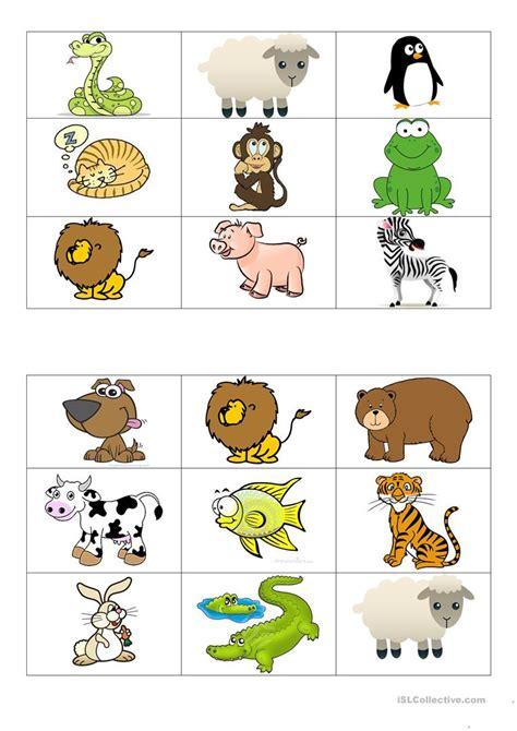 Animal Bingo Cards Printable