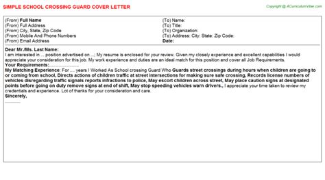 Crossing Guard Cover Letter by School Guard Description Security Guards Companies