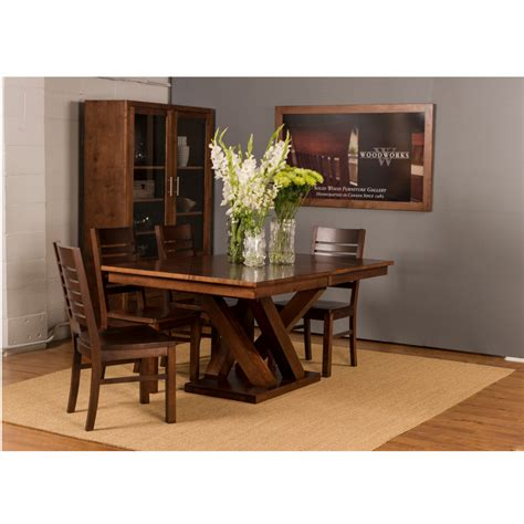 Austin Trestle Table Home Envy Furnishings Solid Wood Canadian Made Dining Room Furniture