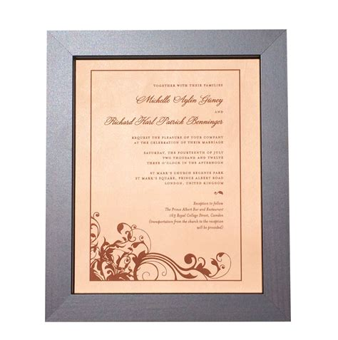 Wedding Anniversary Gift Leather by Leather Photo Engraved Wedding Invitation 9th