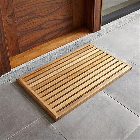 Wood Doormat by Teak Mat Crate And Barrel