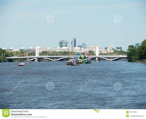 thames river unbeatable game rings thames london olympic games editorial stock image