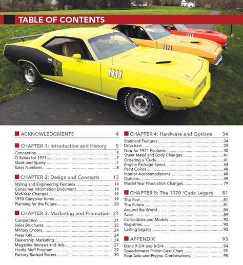 barracuda 1971 plymouth cuda paint codes vin build tag in detail no 2 book ebay