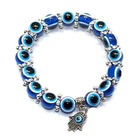 Handmade Evil Eye Bracelet - chic handmade evil eye elastic band bracelet fatima