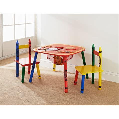 Crayola Table Chairs Set 3pc Furniture B M