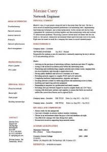 network engineer resume it example sample technology