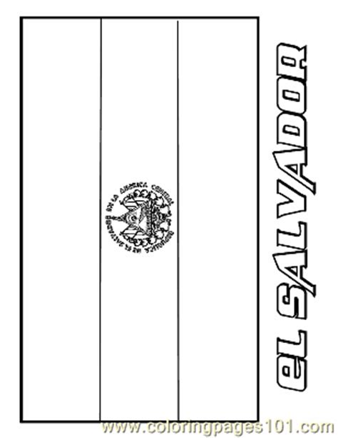 coloring pages el salvador education gt flags free