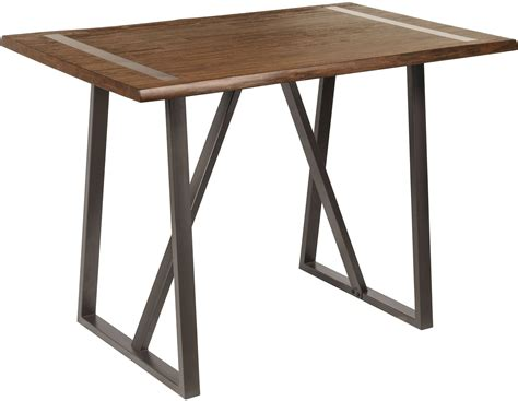 Live Edge Bar Table Industrial Live Edge Bar Height Table From Pulaski Coleman Furniture